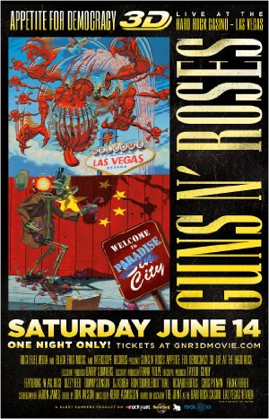 Guns N' Roses Appetite For Democracy 3d Live At Hard Rock Las Vegas